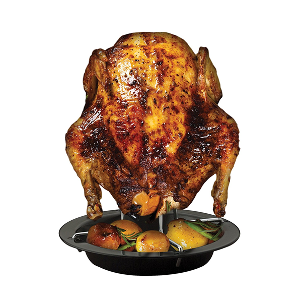 Hic Nonstick Vertical Chicken Roaster With Drip Pan