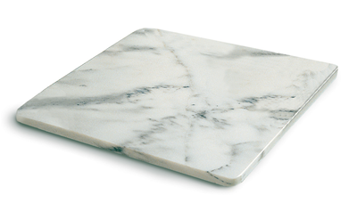 Baking Accessories White Marble Pastry Board Stainless