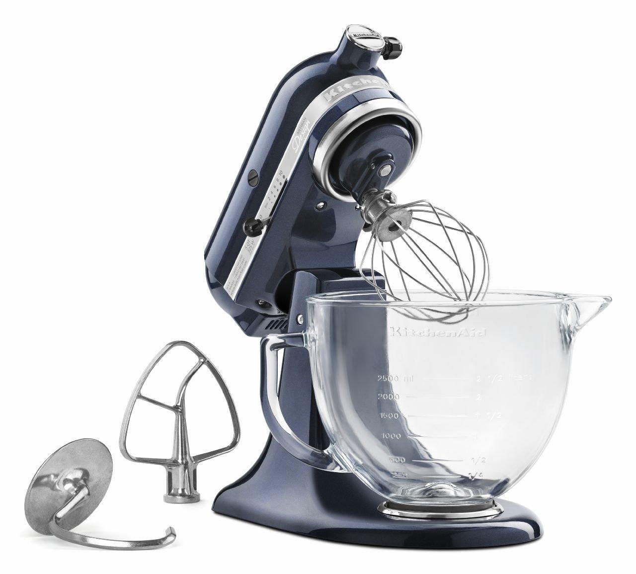 Kitchenaid Mixer Artisan 5 Quart Capacity Glass Bowl Mixer Blueberry