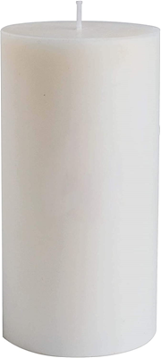 "TAG chapel White 6"" Pillar Candle"