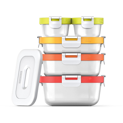 ZOKU 11-pc Neat Stack Storage Container Set( Food to Go Collection)