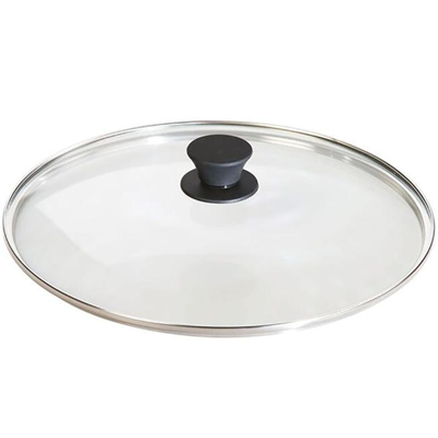 "Lodge 10.5"" Round Tempered Glass Lid with Silicone Knob"
