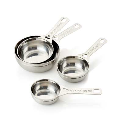 Le Creuset 4pc Stainless Steel Measuring Cup Set