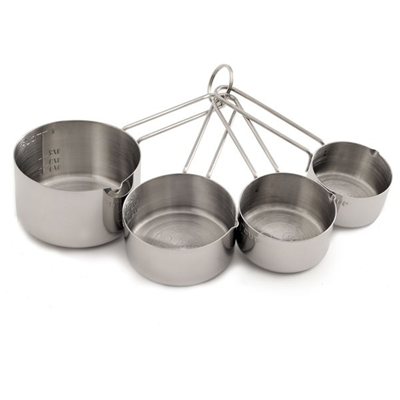 Norpro 4-Piece Stainless Steel Measuring Cup Set