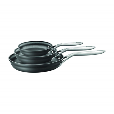 Zwilling J.A. Henckels Motion Nonstick Hard-Anodized 3-Piece Fry Pan Set