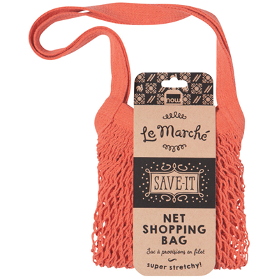 Now Designs Le Marche Netted Shopping Bag - Coral