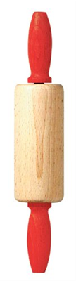 Linden Sweden Childrens Rolling Pin with Red Handle