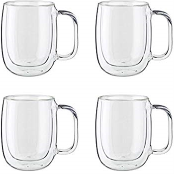 ZWILLING Sorrento Plus 4-pc Double-Wall Glass Coffee Mug Set