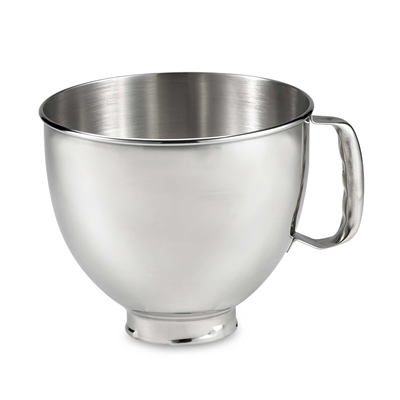 KitchenAid 5 Qt Bowl - Tilt Head Stainless Steel Bowl with Handle