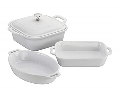 Staub Ceramic 4-piece Baker Set - White