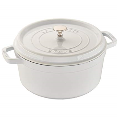 Staub 4QT Round Dutch Oven - White - Exclusive