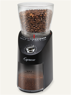 Capresso Infinity PLUS Coffee Grinder - Black