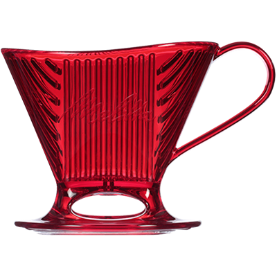 Melitta Signature Series Pour-Over 1 Cup Coffeemaker - Translucent Red