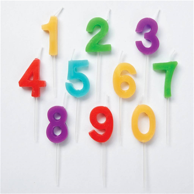 WILTON NUMERALS CANDLES