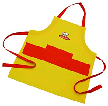 Curious Chef Kids Apron (Bright Yellow and Orange)