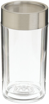 Prodyne Thick Acrylic and Stainless Steel Iceless Wine Cooler