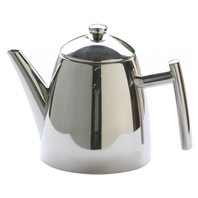 Primo 14oz Stainless Steel Teapot with Infuser - Mirror Finish