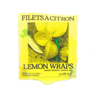 Lemon Wraps with Ribbon - Pack of 12