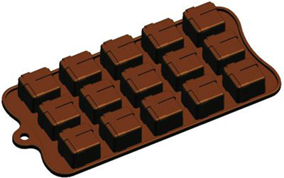 "CHOC. MOLD 9X4"" SQ GIFT BOX"