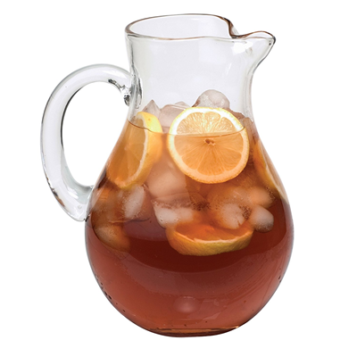 Simplicity Round Glass Pitcher