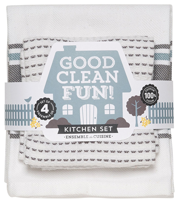 "Now Designs ""Good Clean Fun"" Kitchen Set - Charcoal"