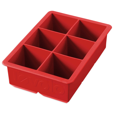 King Cube Ice Tray - Red