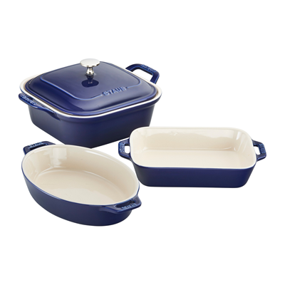 Staub Ceramic 4-piece Baker Set - Blue