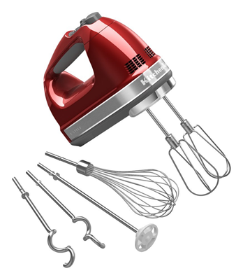 9 Speed Hand Mixer - Candy Apple Red