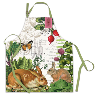 Michel Design Works Cotton Apron - Garden Bunny