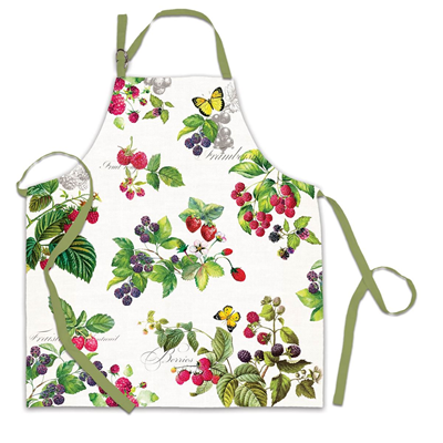 Michel Design Works Cotton Apron - Berry Patch