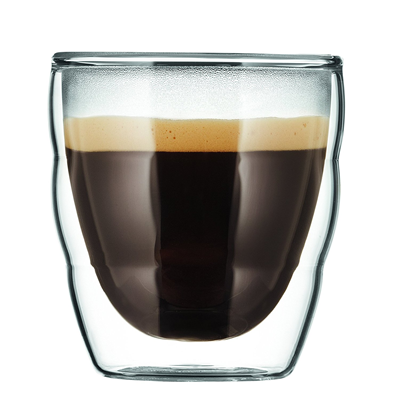 Bodum Pilatus Double Wall Glass 2.5oz - Set of 2