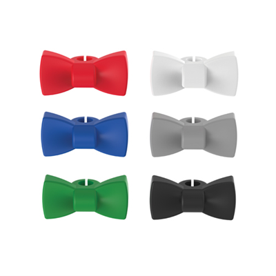 Bow Tie Silicone Wine Charms - Set of 6