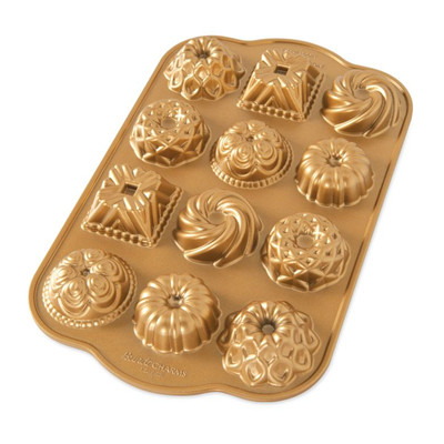 Nordic Ware Bundt Charms Pan - Gold