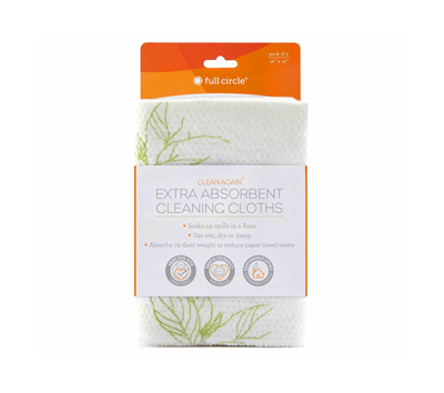 Full Circle Clean Again Super Absorbent Cleaning Cloths - Tree Buds
