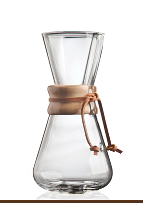 Chemex® 3-Cup Pour-Over Wood Collar Glass Coffee Maker