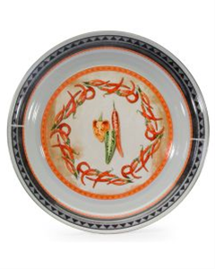 Golder Rabbit Enamelware Catering Bowl - Chilli