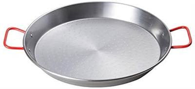 Winco Carbon Steel Paella Pan - 23-5/8""