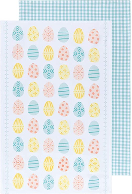Now Designs Easter Eggs Kitchen Towel - Set of 2