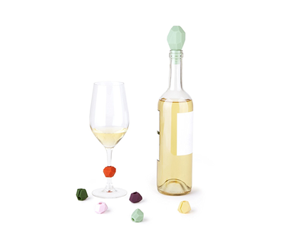 Umbra Gem Wine Charm & Bottle Stopper Set