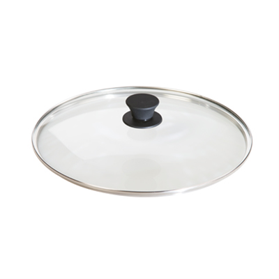 "Lodge 12"" Round Tempered Glass Lid with Silicone Knob"
