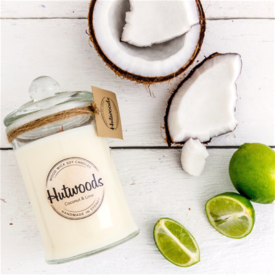 SMALL CANDLE 4.5oz COCONUT & LIME