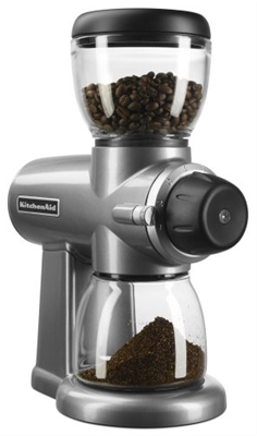KitchenAid Burr Coffee Grinder - Silver
