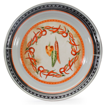 Golden Rabbit Enamelware Large Tray - Chilli Pepper