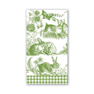 Michel Design Works 3-Ply Paper Hostess Napkins - Bunny Toile