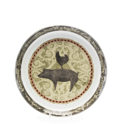 Golden Rabbit Enamelware Medium Tray - Farm to Table