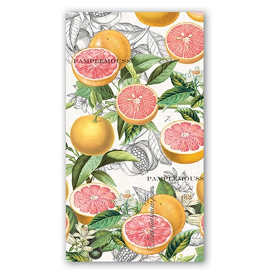 Michel Design Works 3-Ply Paper Hostess Napkins - Pink Grapefruit