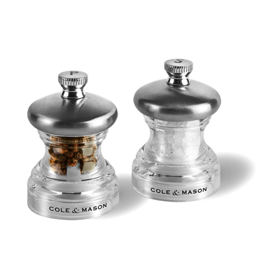 "Cole & Mason Acrylic 2.5"" Salt & Pepper Mill Set"