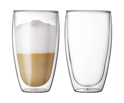 Bodum Pavina Double Wall Glass 15oz - Set of 2