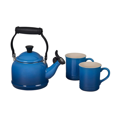 Le Creuset Demi Kettle and Mugs Set - Marseille