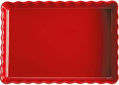 Emile Henry Rectangular Tart Dish - Burgundy Red